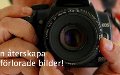 Vi kan rädda dina bilder om olyckan varit framme!