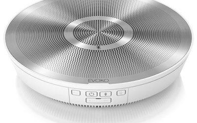 Evoko Minto Steel White, trådlös konferenstelefon