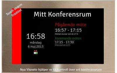 Visneto – Enkel bokning av konferensrum med pekskärm